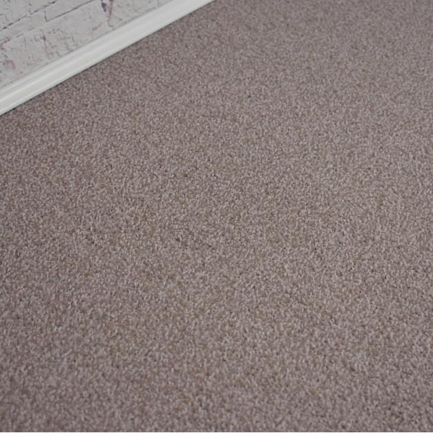 Santiago Brown Beige Saxony Carpet