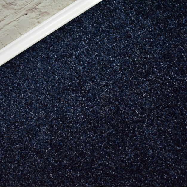 Primetime Midnight Blue Felt Back Saxony Carpet