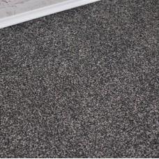 Prime Time Elite Black Grey Felt Back Saxony Carpet