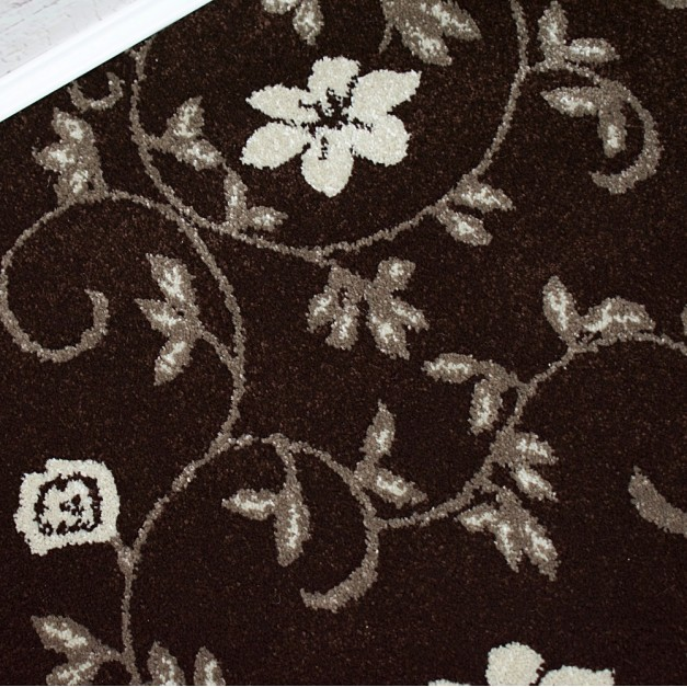 Wilton Carpets Outlet Factory: Richmond Brown/Cream Floral Wilton Carpet