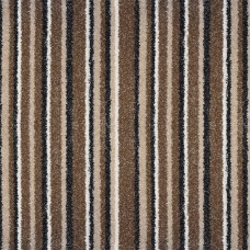 Salt Lake Brown Stripe Saxony Carpet