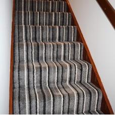 Salt Lake Grey Stripe Saxony Carpet