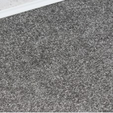 Sky Dark Silver Grey Twist Pile Carpet Remnant 1.6m x 4m - MN593