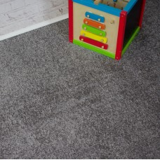 Sky Dark Silver Grey Twist Pile Carpet