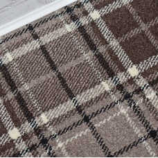 Tartan Brown Wilton Carpet