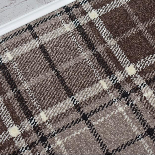 Tartan Brown Wilton Carpet