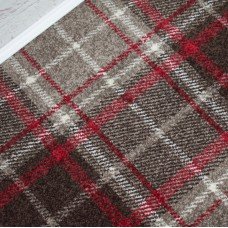 Tartan Brown/Beige Wilton Carpet