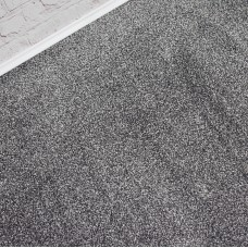 Texas Soft Touch Dark Silver Grey Saxony Carpet Remnant 3.9m x 4m - IN1477