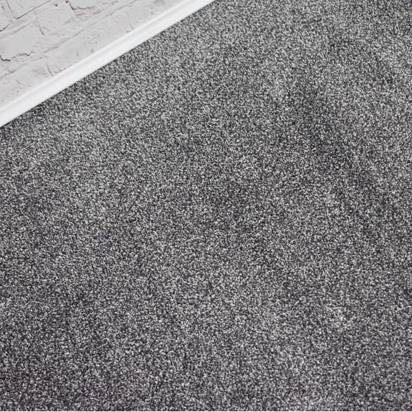 Texas Soft Touch Dark Silver Grey Saxony Carpet