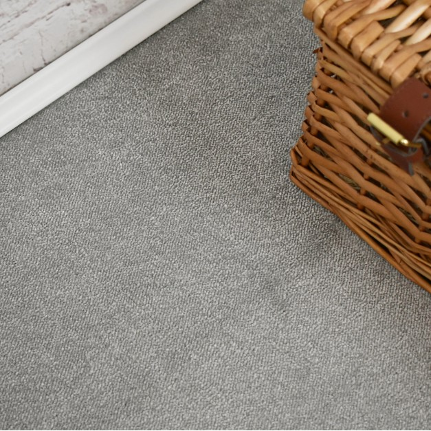 Velvet Saxony Light Grey Carpet