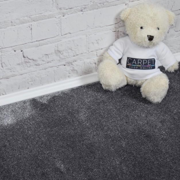 Velvet Saxony Medium Grey Carpet