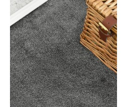 Velvet Dark Grey Saxony Carpet