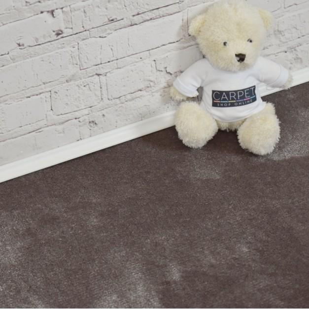Velvet Mink Silver Saxony Carpet
